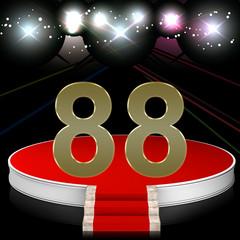 Zahl 88 auf Bühne im Rampenlicht