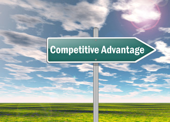 "Signpost ""Competitive Advantage"""
