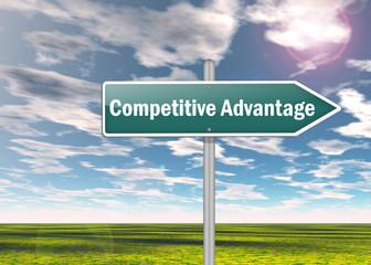 """Signpost """"Competitive Advantage"""""""