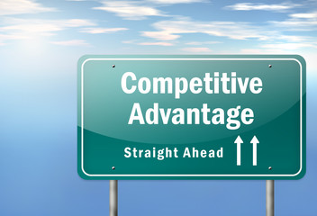 "Highway Signpost ""Competitive Advantage"""