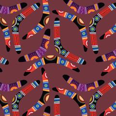 Seamless pattern with boomerangs