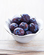 Bowl of Fresh Plums