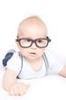baby mit brille