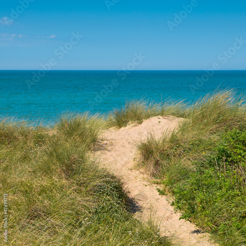 Beach, dune, sea view