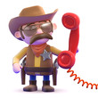 Cowboy answers the red phone