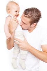 papa mit baby