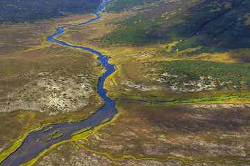 aerial kamchatka river