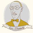 Vector Portrait Of Stravinsky Igor.