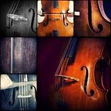 Music collage - Doublebass - double bass - kontrabass
