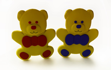 Funny Toy Bears in 3d
