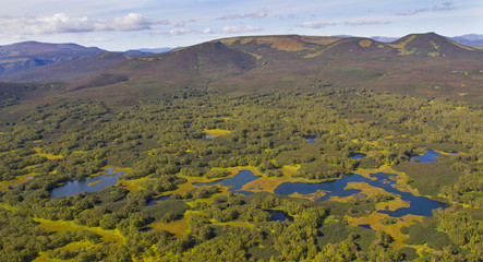 aerial kamchatka lakes