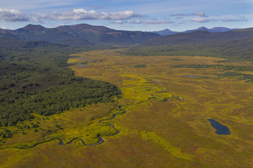 aerial kamchatka tundra