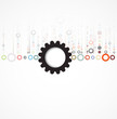 abstract futuristic gear technology business new background