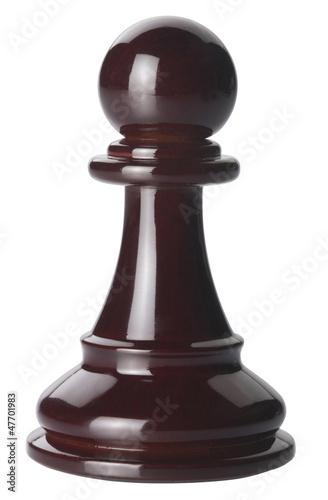 Foto: Ajedrez peón negro