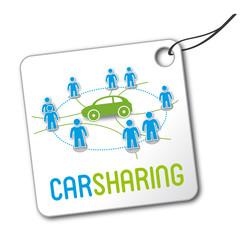 Carsharing Schild, Plakette, Autoteilen