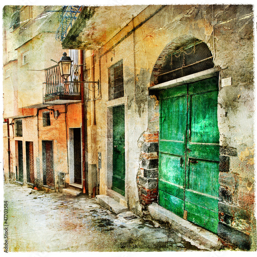 pictorial old streets of Italy