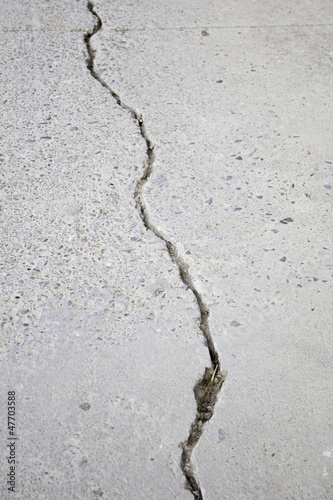 Crack in the ground