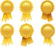 gold award rosette