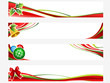 christmas white banners
