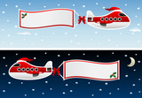 christmas plane with banners
