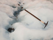 Ice axe on a glacier