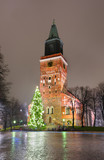 Turku Cathedral and Christmas tree