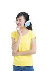 Teen enjoying music