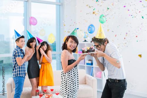 Happy birthday to friends!