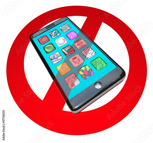 No Smart Phones Do Not Call Talk on Cell Phone Telephone
