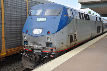 Amtrak Locomotive General Electric in Syracuse, USA