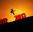 new year 2013 girl jumping
