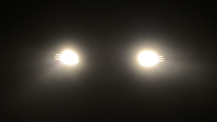 Fog in a headlights of car