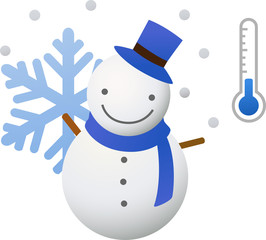 snowman with thermometer