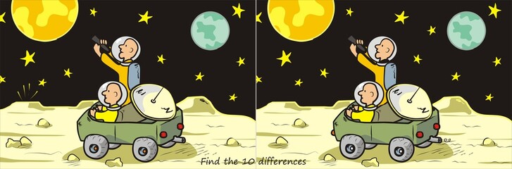 moon rover-find 10 differences