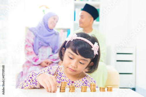 Muslim saving money