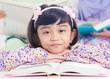 Muslim girl reading