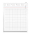 White paper note with clip
