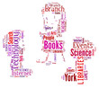 Word Cloud of Children Reading Book