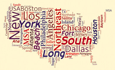Word Cloud of USA Maps