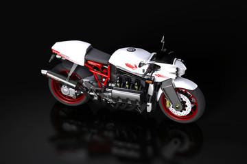 Straßenmotorrad im Studio