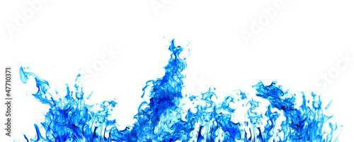 blue flame strip isolated on white