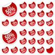 Rabatt Sticker Kollektion - Reduziert - Rund - Rot