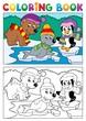 Coloring book winter topic 5