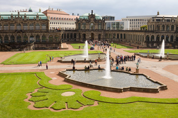 The courtyard of Zwinger in Dresden, Germany