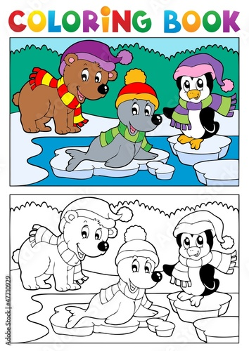 Coloring book winter topic 5