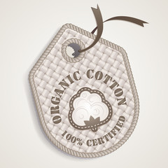 Organic cotton label