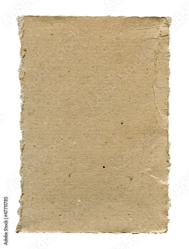 Torn cardboard isolated