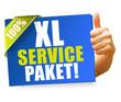 XL Service-Paket! Button, Icon