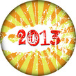 New year 2013, sign, grungy,vector