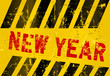 New year sign, grungy,vector